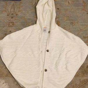 Gymboree Size 4T Ivory Hooded Poncho